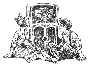Kids listening to radio
